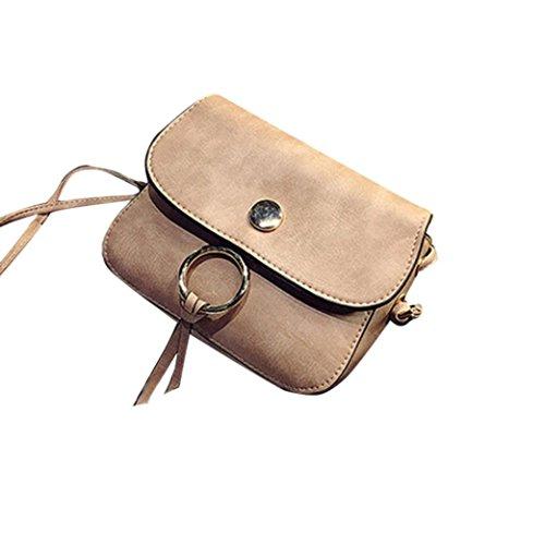 BZLine® Frauen Leder Quaste Handtasche Crossbody Messenger tasche, 18cm *15cm *5cm Pink