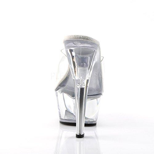 Higher Heels, Scarpe col tacco donna (Clear/Clear)