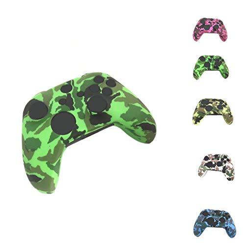 Rekkle Ersatz für Xbox One X One S Controller Silicone für Xbox Silikon Guards schützender Haut Fall Tarnung Cover + 8pcs Grip Kappen Set -