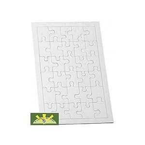 Puzzle blanc 30 pieces a decorer lot de 10 jouet jeux et jouets - Jeux de chambre een decorer ...