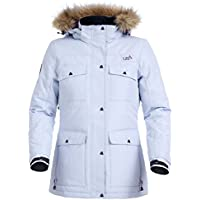 Urban Beach Women's Parka, Ski Snowboard Jacket, Waterproof Breathable with Faux Fur Hood, Ebro Lilac