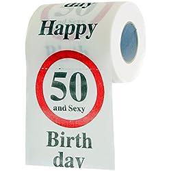 Cadeau fun papier toilette 50 ans et sexy «50» idée cadeaux!