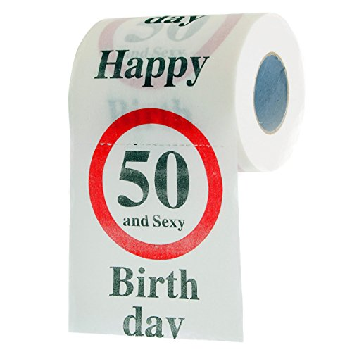 "Fun Toilet Paper, Toilet Paper ""50th Birthday 50 and sexy. Gift Items"