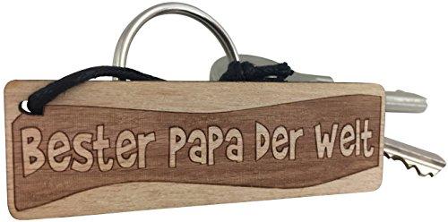 endlosschenken Schlüsselanhänger Vatertagsgeschenk Bester Papa der Welt doppelseitige Gravur aus Holz Geschenk für Papa Geschenkideen Vatertag