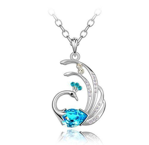 Habors gold-plated Pendant For Women (Blue)