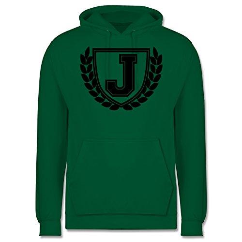 Anfangsbuchstaben - J Collegestyle - Männer Premium Kapuzenpullover / Hoodie Grün