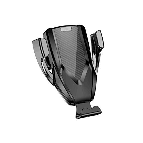 MYHYXL Schnelles Drahtloses Auto Ladegerät Lüftung Mund HandyHalterung, 360° Drehbar für Samsung, iPhone, Huawei, Google, Nokia, HTC Serie,Black Htc-serie
