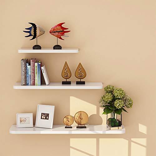 Scaffale decorativo da parete con mensole lucide bianche lucido, mensole a parete scaffale da esposizione con mensola moderno e semplice da scaffale decorativo da 3 pezzi con raccordo per cucina, bagn
