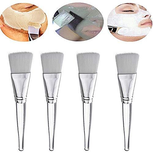 Topbeauty 4x gezichtsmasker penseel Profi gezichtsmasker penseel Beauty Mask penseel plastikhandgriff greep Zachte Borstel