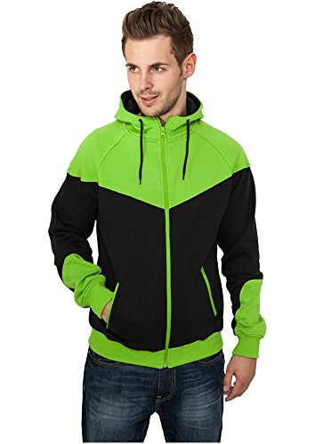 TB289 Arrow Sweat Zip felpa con cappuccio da Sweat-shirt cappuccio blk/lgr