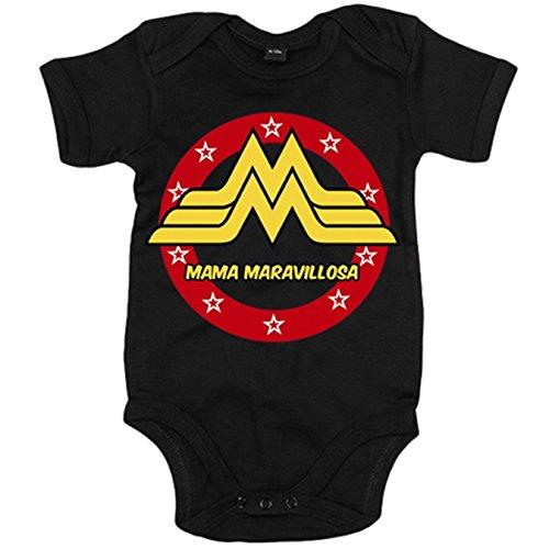 Body bebé Wonder Woman mamá maravillosa regalo para madres - Negro,