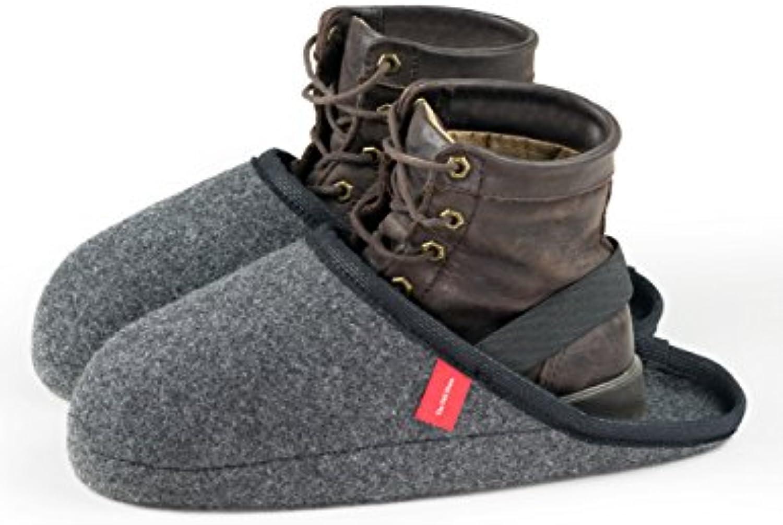 Babuchas pantuflas chanclas zapatillas en fieltro, calzas con cinta elástica