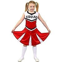 I Love Fancy Dress. ilfd7098s infantil Disfraz de animadora con impresión y  falda de Squad a63f76dc60a10