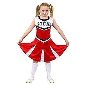 I Love Fancy Dress. ilfd7098l infantil Disfraz de animadora con Squad ImpresióN y falda (Tamaño Grande)