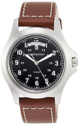 Hamilton Men's Analogue Quartz Watch with Leather Strap H64451533
