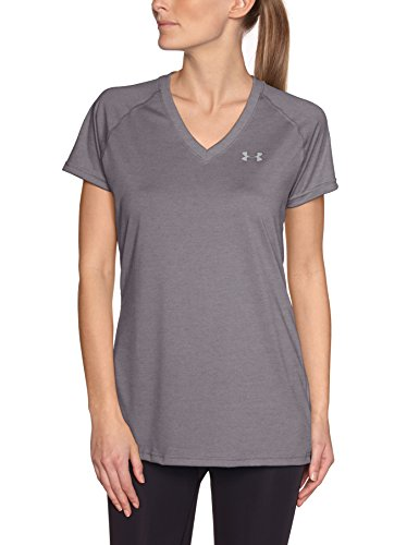 Under Armour UA Tech T-Shirt manches courtes Femme Magenta X-Ray/Silver
