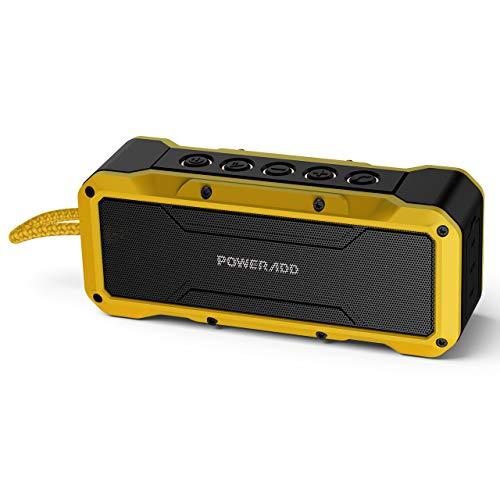 POWERADD Altoparlante Bluetooth Wireless Speaker Portatile con Alte Prestazioni Sonore con Audio HD 36W, Casse Portatile IPX7 a Prova di Urti e Polvere, Aux-in -Giallo