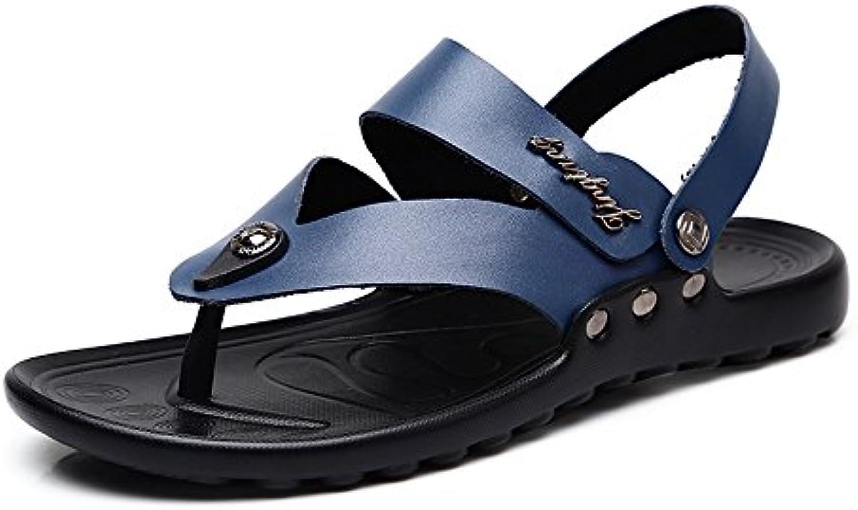 Männer Casual Flip Flops Schuhe Aus Echtem Leder Strand Hausschuhe Rutschfeste Sohle Sandalen für MännerMänner Casual Hausschuhe Rutschfeste Sandalen