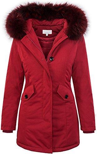 Designer damen winter jacke parka mantel winterjacke gefüttert D-218