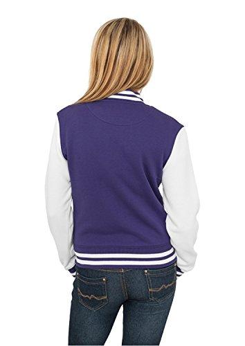 Urban Classics - Blouson - Teddy - Manches Longues Femme Purple/white