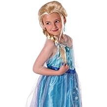 Disney Frozen - Peluca de Elsa para niña de 3-4 años