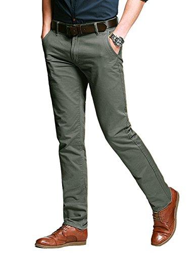 Match Herren Slim Casual Hose #8025 8118 Grau gruen