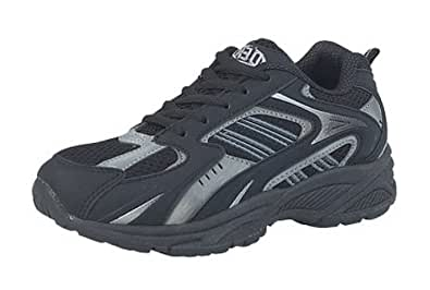 Boys DEK Trainers Joggers Black/Grey size 3 UK