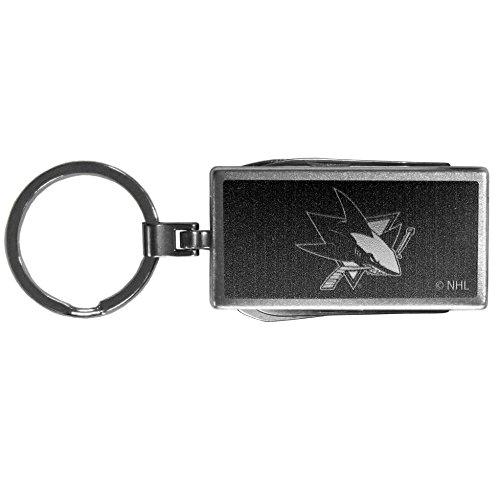 Siskiyou NHL Unisex Multitool Schlüsselanhänger, schwarz, Unisex, Multi-Tool Key Chain, schwarz, Einheitsgröße