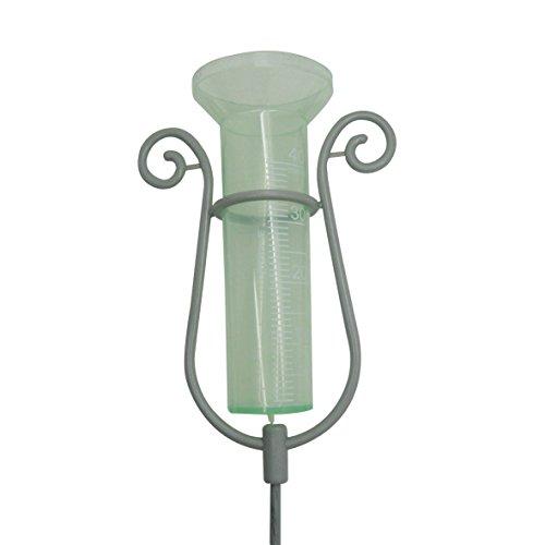 Xclou pluviometro con asta, robusto giardino accessori, Pluviometro in plastica