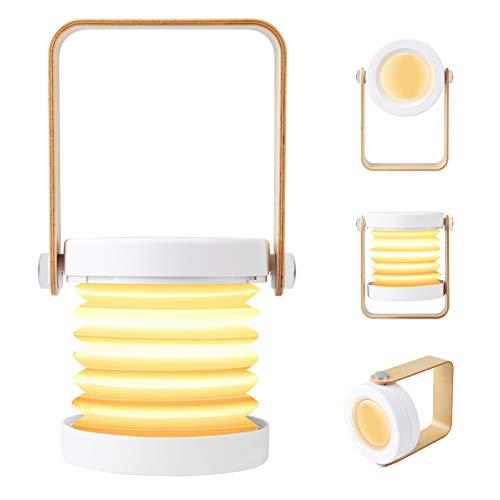 OOTOO LED Nachttischlampe Tischlampe Tischleuchte Nachttischleuchte Touch-Schalter, 3 dimmbare Helligkeite kabellos und tragbar 4300K warmweiß Kinder für Schlafzimmer, Wohnzimmer, Arbeitszimmer