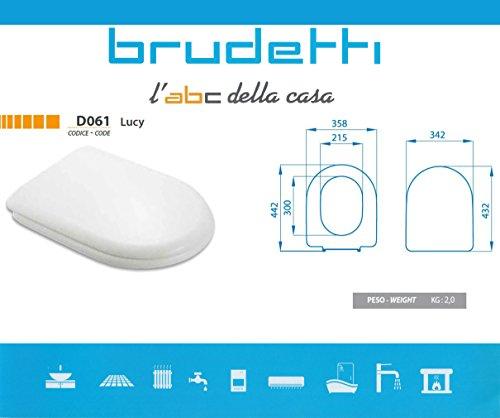 ⭐ sedile wc compatibile ⭐ dolomite alpina ⭐ termoindurente copriwater plastica adattabile bianco cerniere cromate ⭐