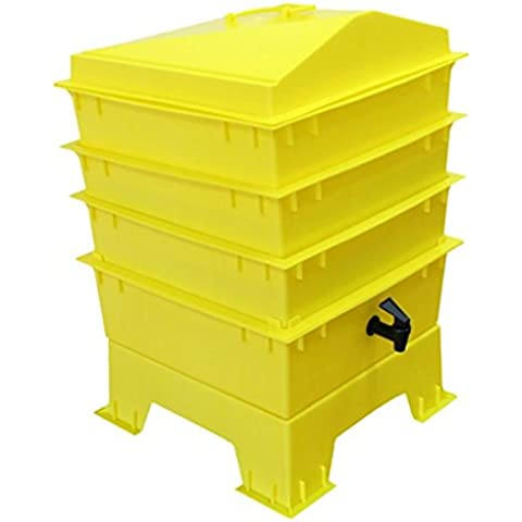 La tigre arcobaleno Wormery elettrico 4vassoio giallo