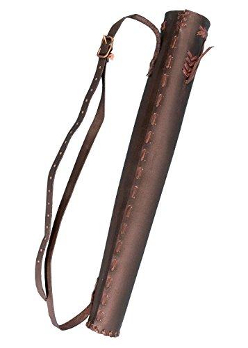 Leder Köcher Hunter 60 cm aus Leder für 6 LARP Pfeile Bogenschütze Mittelalter verschiedene Farben (Braun) (Pfeil Verschiedene Kostüme)