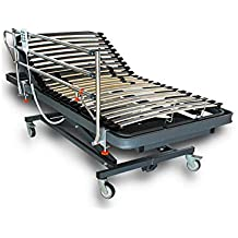 VentadeColchones - Camas Articuladas Geriátrica de Hospital con Carro Elevador Medida 90 x 190 cm con