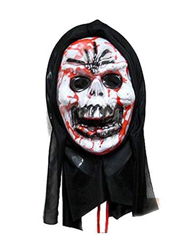 Scary Bleeding Halloween Kostüm Masken Terror Ghost Devil Maske Dance Party (größe : Skeleton)