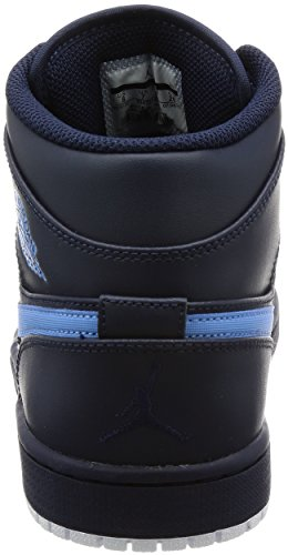 Nike, Air Jordan 1 Mid, Sneaker, Uomo Multicolore (Obsidian/University Blue/White)