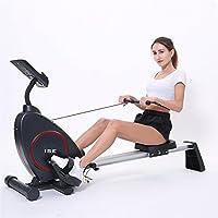 ISE Rameur d'appartement Rameur à air pliable appareil de fitness musculation cardio training compatible avec application smartphone SY15002