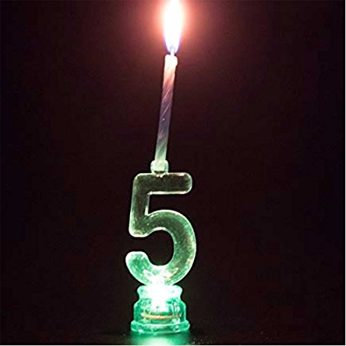Gifts 4 All Occasions Limited SHATCHI-1249 - Figura decorativa de Shatchi (número 5, 4 velas), multicolor