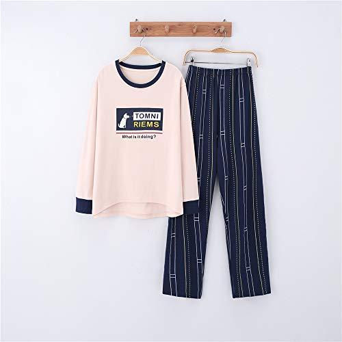 Feuerwehrmann Weibliche Kostüm - Damen Baumwolle Schlafanzug Pyjama Set Lang Zweiteilige,Paar Baumwolle Langarm Männer und Frauen Anzug zu Hause Service A-7 weiblich XL