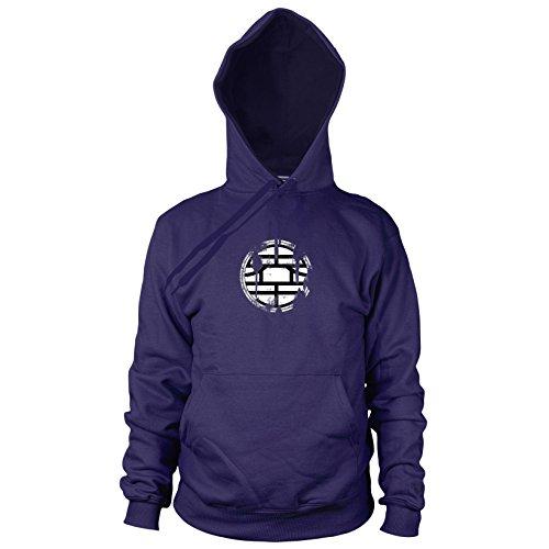 Kostüm Krillin Dbz - Planet Nerd DBZ: Vintage Logo - Herren Hooded Sweater, Größe: L, dunkelblau