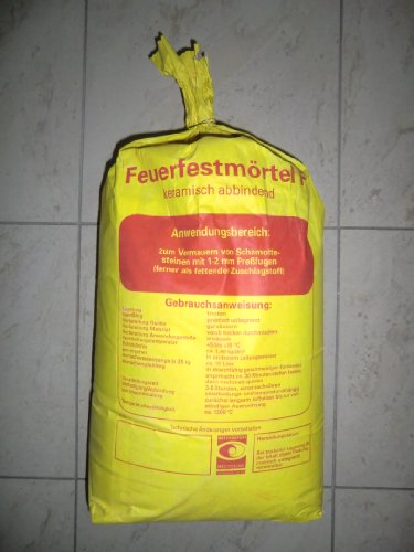 Schamottemörtel Feuerfestmörtel Feuerraummörtel Profimaterial 25kg