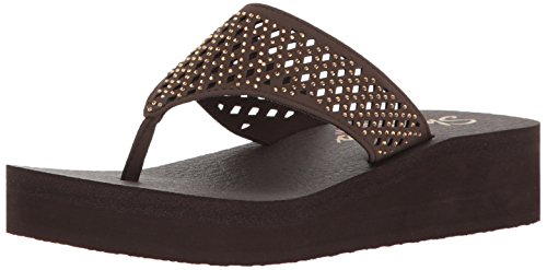 Skechers Damen Meditation - Flow, Chocolate Cutout, 40 EU Cut Out Platform Sandal