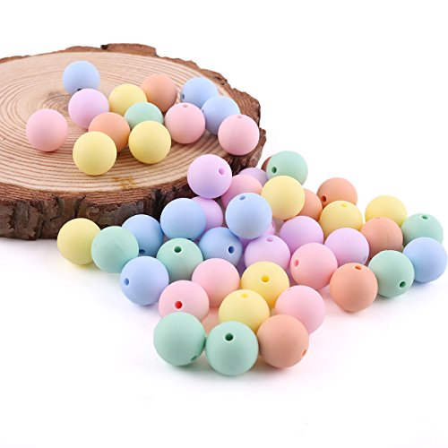 baby tete Perles en silicone Candy Colors rond 15mm / 150PC Baby Silicone Teething Teething Diy Accessoires pour bijoux Bijoux en brocante Baby Teether Toys
