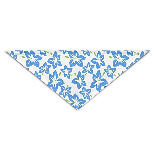 Gxdchfj Blue Hibiscus Triangle Pet Scarf Dog Bandana Pet Collars for Dog Cat - Birthday