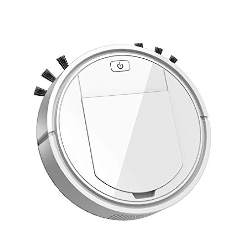 ANYIKE Aspirador robot inteligente 3 en 1, aspirador de carga USB Limpiador de succión automático...