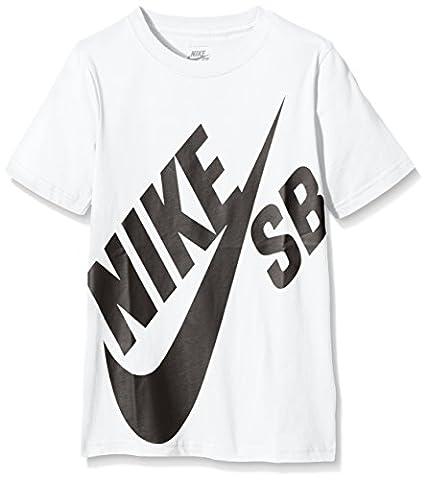 Nike SB - T-Shirt - Garçon - Blanc (White/Black) -