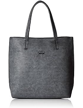 Boscha Damen Shopper Bag Henkeltasche, 14 x 35 x 36 cm