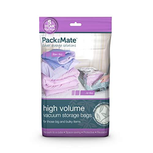 Packmate ® Jumbo -Vakuumbeutel zur platzsparenden Aufbewahrung - für Kleidung, Bettdecken, Bettwäsche u. v. m. - 90 x 110 cm - 2 Stück -