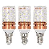 Gebildet E14 Energiesparende LED-Glühbirnen, 8W/800LM, Warmweiß 3000K, 360 ° Abstrahlwinkel, Kleine Edison-Schraube(SES), Energieklasse A+ (Packung mit 3 Stück)