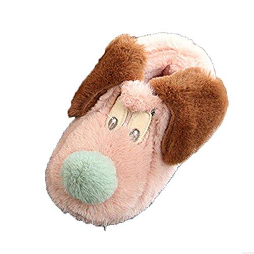 Babyschuhe Jamicy® Winter Kinder Herde Gummi Hausschuhe Jungen Mädchen Baumwolle Schafe Kinder Indoor Warme Schuhe (12-24 Monate, Rosa) Indoor-fußball-schuhe Größe 4 Mädchen